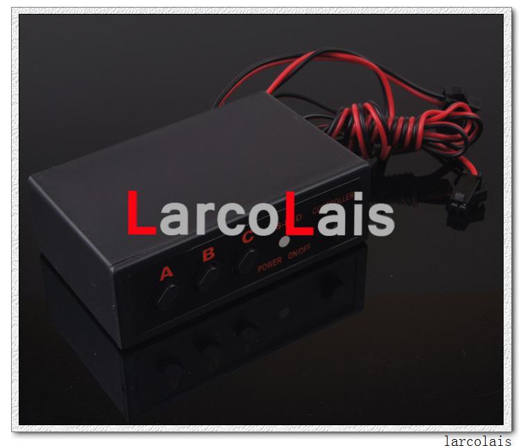 Larcolais White 2x22 LED Strobe Flash Warning EMS Car Truck Light Flashing Firemen Lights