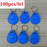 Wholesale Rfid Chips - RFID key tag 125Khz writable EM4305 chip 100pcs lot EM4305 free shipment by air mail S378