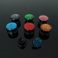 Wholesale Ear Gauges Glitter - New Hot wholesale body jewelry 72pcs mixed gauges glitter acrylic multi colors internally thread ear Flesh Tunnel