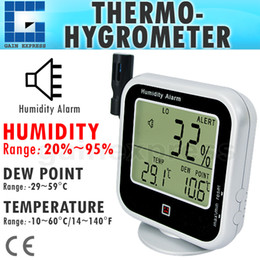 Wholesale Digital Hygrometer Outdoor - E04-019 Digital Thermo-Hygrometer Indoor Outdoor Temperature Thermometer with Dew Point Measurement & Relative Humidity RH Alarm