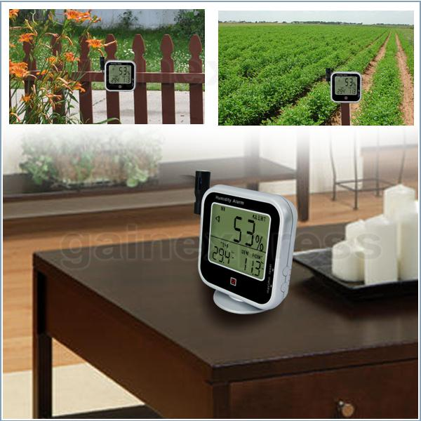 E04-019 Digital Thermo-Hygrometer Indoor Outdoor Temperature Thermometer with Dew Point Measurement & Relative Humidity RH Alarm