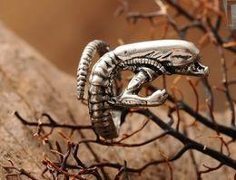 Wholesale Gothic Wedding Ring Men - 2013 Retro Vintage Alien Monstrous Men Rings Gothic Punk Ring Jewelry Size Adjustable 10Pcs Lot tm1
