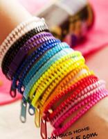 Wholesale New Zip Bracelet Wristband - DHL Shipping 2013 New Zip Bracelet Wristband Candy Bracelets Popular Zipper Bracelet Mix Colors 300pcs lot