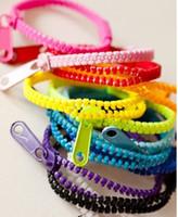 Wholesale Zip Armband - Free Shipping Zip Bracelet Kids Adults Unisex Fashion Accessory Zipper bracelets Armband Wristband Bands Mix Colors 100pcs lot