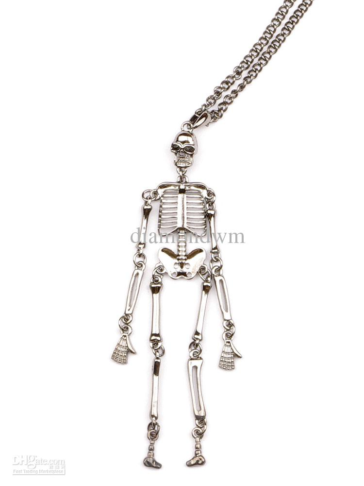 Wholesale anatomical human skeleton skull necklace jewelry silver wholesale anatomical human skeleton skull necklace jewelry silver pendants from diamondwm 5271 dhgate aloadofball Image collections