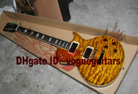 Wholesale Tiger Guitar Chinese - Chinese Guitar Newest Tiger Brown Mahogany Electric Guitar Free Shipping C68
