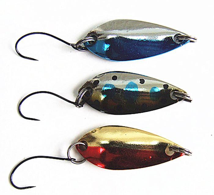 Cuillère leurre cuillère appât de pêche leurre appâts en métal faux appât de pêche attaquer unique crochet deux taille 2.5g 5g pour leurre de poisson d'eau salée ou d'eau douce