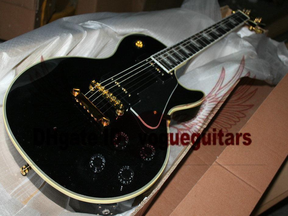 Custom Shop nieuwste zwarte ebbene toets elektrische gitaar mahonie gratis verzending C89