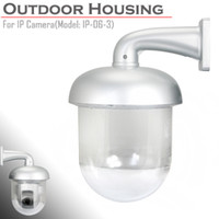 Wholesale Security Camera Outdoor Housings - Outdoor Waterproof Dome Housing Enclosure for Security CCTV IP Pan Tilt Camera free shipping