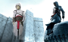 Wholesale Kids Cosplay Costumes Cheap - Hot chirdren Assassin's Creed Cosplay Costume Custom Made Ezio Kids Cheap Party New Cosplay Outfit Full Set Halloween gift Hero