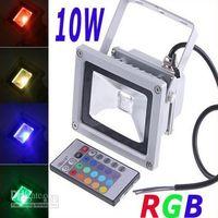 10W Waterproof Floodlight Landscape Lamp RGB LED Flood Light Outdoor LED Flood Lamp 110V 85-265V