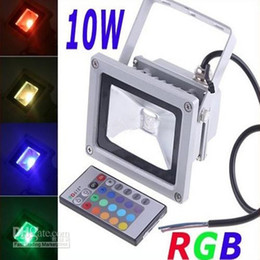 Wholesale Rgb Led Floodlights - 10W Waterproof Floodlight Landscape Lamp RGB LED Flood Light Outdoor LED Flood Lamp 110V 85-265V