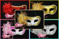 Wholesale Gold Party Masks Cheap - Free shipping Plastic Party Masks Mardi Gras Masks Masquerade Party Masks Venetian Masks Carnival Masks cheap 40pcs lot