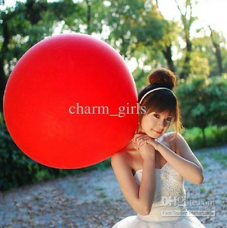 2017 nova moda 36 polegadas látex tamanho grande balão para promoção decorar balão de casamento festival de natal balão / lote