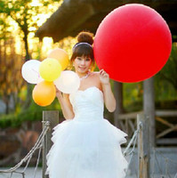 Wholesale Long Balloon Big - 2017 new Fashion 36 Inch Latex big size Balloon for Promotion decorate wedding balloon Christmas festival balloon 50pcs   lot