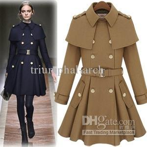 2018 New Women Fashion Womans Vintage Double Breasted Dress Trench ...