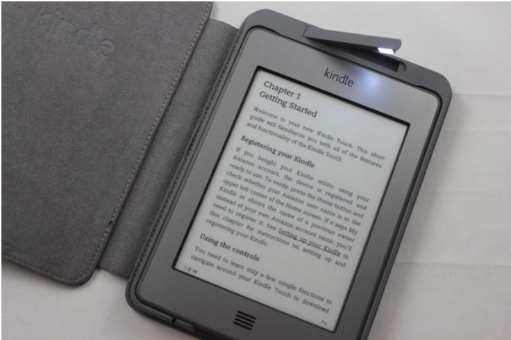 Classic Book Covers For Kindle : Top quality led lighted leather kindle cover for amazon