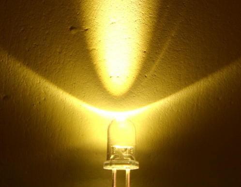 5mm 20000 MCD ultra brilhante branco quente luz do diodo emissor de luz LED