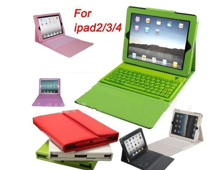 Stand Leather Case With Bluetooth 3.0 Silicone Keyboard For iPad 4th 3rd 2 ipad air