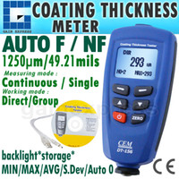 Wholesale Digital Paint Coating Thickness - DT-156 Digital Paint Coating Thickness Gauge Meter Tester 0~1250um with Auto F & NF Probe + USB Cable + CD software