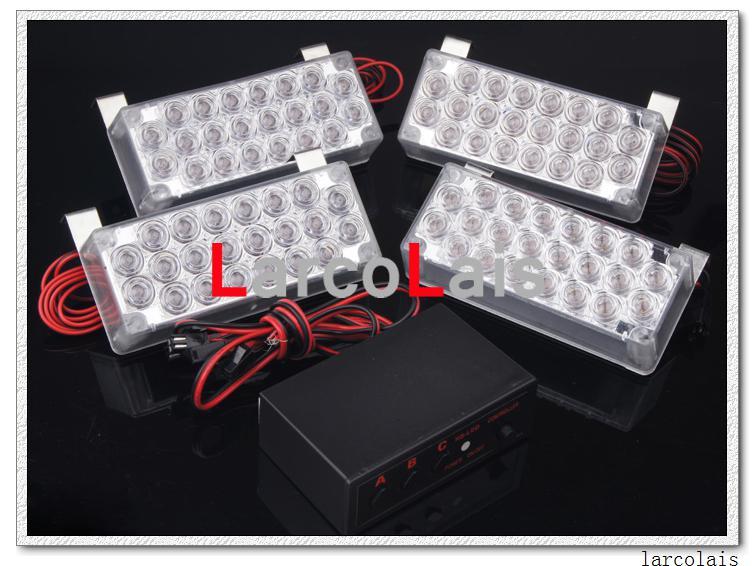 Nuevas luces estroboscópicas 4x22 LED Advertencia de parpadeo del fuego Luz de emergencia para bomberos 4 x 22