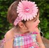 Crochet headband girls Hair Accessories baby hair bow clip flower Headband clipper Free Shipping