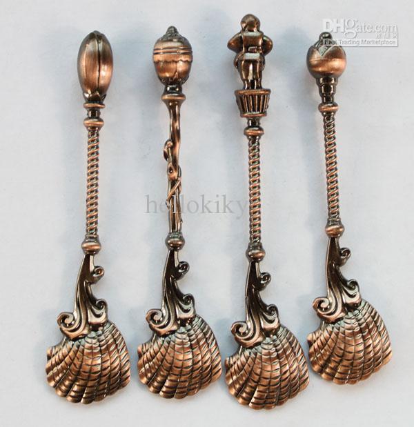beaucoup de cuillère à bijoux ornés de cuivre antique cuillère # 22936