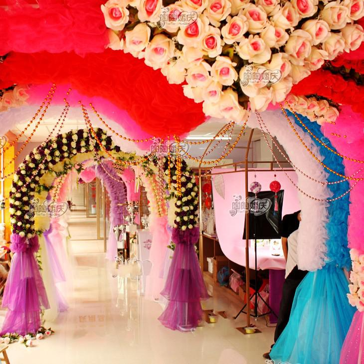 10meter Long Wedding Decoration Hanging Beads Plating Channeling