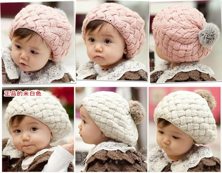 R Chapéus do bebê Pom pom chapéu de malha meninas meninos gorro de inverno  da criança crianças ... c6367bb7b7a