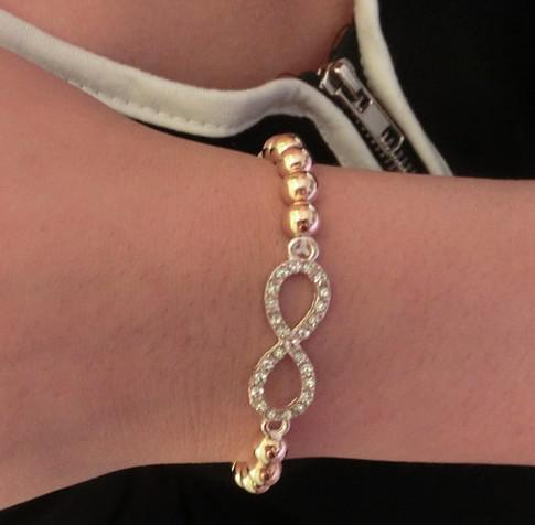 New Gold Silver Plated Sideways Sideway Crystal Rhinestone Love Cross Bead Bracelet Unisex Bracelet Bangles ZY3