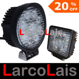 "LarcoLais 4 ""27W LED ضوء العمل مصباح شاحنة مقطورة SUV JEEP Offroads Boat Worklight 12V 24V OffRoad 4WD White"