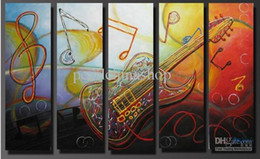 Wholesale Canvas Oil Paintings Drawn - 100% hand draw abstract modern oil painting on canvas Crazy Guitar
