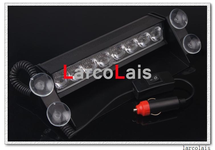 Larclais 8 LED High Power Strobe Lights z przyssawkami Ciężarki Filiżanka Flashing Emergency Car Ciężarówki Światło Amber Biały Określ komentarz kolor