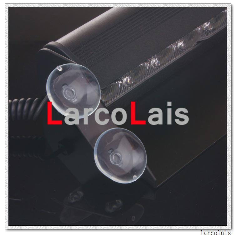 LarcoLais 8 LED High Power Strobe Lights with Suction Cups & Fireman Flashing Emergency Car Truck Light Amber White Specify Color Comment