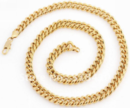 Wholesale 24 Solid Gold Chains - 24 Inches 73g 18K Solid Yellow Gold plated Necklace Chain C7 Free Shipping, Solid Gold plated Necklace Chain