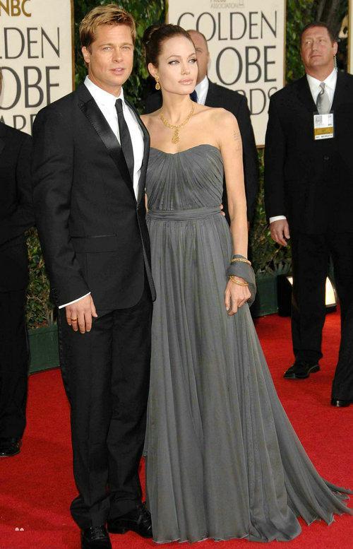 Großhandel Billig Angelina Jolie Trägerlosen Grau Langen Abendkleid ...