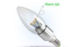 Wholesale Candle Leds Bulbs - X100 E14 E12 Led Candle bulb led lamps led light chandelier LED bulbs 6W 6*1W 5630 SMD 6 leds real high power pure white By DHL