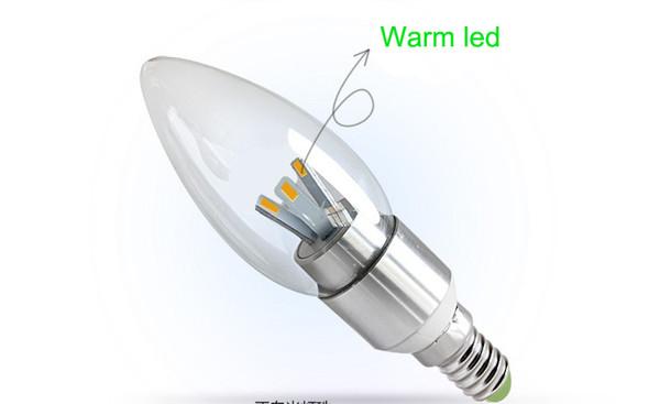 X100 E14 E12 Светодиодные лампы накаливания Светодиодные лампы светодиодные люстры Светодиодные лампы 6W 6 * 1W 5630 SMD 6 светодиоды настоящая высокая мощность чисто белый