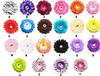 50pcs Daisy Flowers hair hat clip hair bows without headband bridal wedding todders party 22 colors for choose