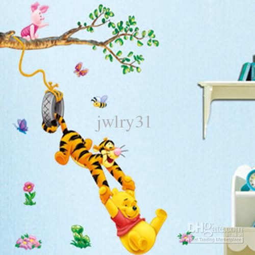 Popular Cartoon Winnie Bear And Tigger Wall Sticker Home Decor Room Decor  Kids Large Mural Childrenu0027s Bedrooms Sticker Decals Home Vinyl For Wall  Decals ... Part 50