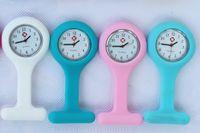 relógios de enfermagem frete grátis venda por atacado-DHL UPS FedEx frete grátis New rodada enfermeira assistir, médico relógio, bolso de borracha de silicone wach, relógio macio DHL / UPS frete grátis