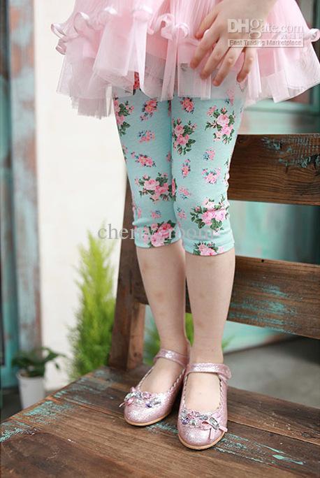 See larger image - 2017 Fashion Kids Toddler Girls Floral Printed Pants Tights