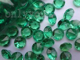 Wholesale Diamonds Wedding Table Decor - Free DHL For Wholesale,30%OFF,500pcs=1 Set 4C(10mm) Beautiful Emerald Green diamond confetti wedding Party favor table scatter Decor