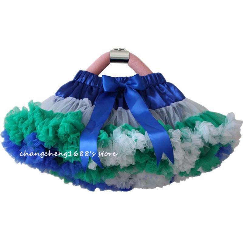 Retail Girls Pettiskirt Children Baby Rainbow Chiffon TuTu Skirts Princess Skirt Kids Clothing Free Shipping 1 PCS