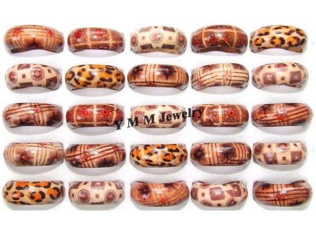Fashion Wood Rings For Kids Mix Color Mix Size Wholesale