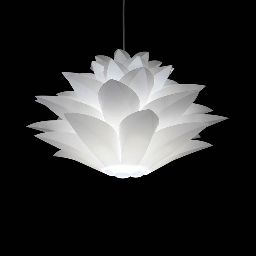 Großhandel Weiße Lotus Acryl Diy Pendelleuchte Kostenloser Versand ...