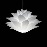 colgante de plastico blanco luz al por mayor-White Lotus acrílico DIY colgante de luz envío gratis Modern Creatived dormitorio comedor / sala de estar Stury Room plástico colgante de luz
