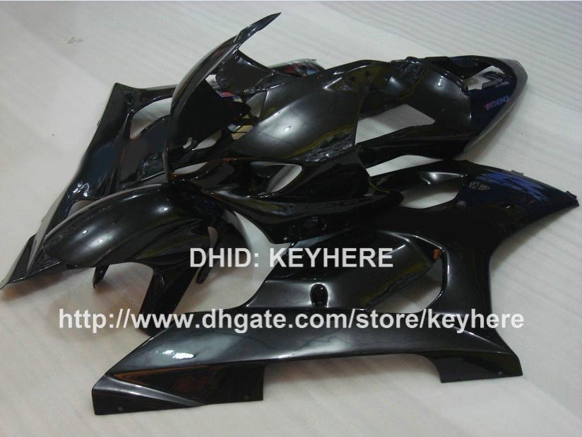 Personnaliser le kit de carénage en plastique ABS pour SUZUKI GSX-R1000 03 04 GSXR1000 2003 2004 Carénages K3 G1a tout ensemble de carrosserie de pièces de moto noir