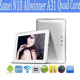 Sanei N10 Allwinner A31 quad core Édition ultime 10 pouces Android Tablet PC Android 4.1 RAM 2GB ROM 16GB 1280X800Px 1pcs