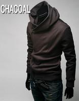Wholesale Top Coat Cosplay - Hot 2014 Anime Assassin's Creed III 3 Desmond Miles Hoodie Jacket Top Coat Cosplay Costume